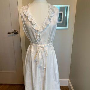 L'Agence white unlined sleeveless dress